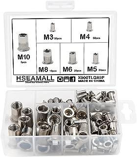 M8 Kit de surtido de tuercas de remache roscado de cabeza plana con inserto de remache roscado 100PCS M3