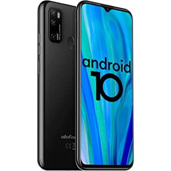 "Ulefone Note 9P 4G Unlocked Cell Phones, 6.52"" HD+ Waterdrop Screen,16MP Triple Rear Camera, Android 10 Octa-Core 4GB + 64GB,4500mAh Big Battery, Face Unlock Finger Reader Unlocked Smartphones - Black"