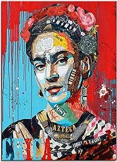 Banksy Pop Art Affiches Et Affiches Toile Colorée Frida Kahlo Portrait Peintures Pop Art Peintures Rouge Bleu Réalisme Pho...