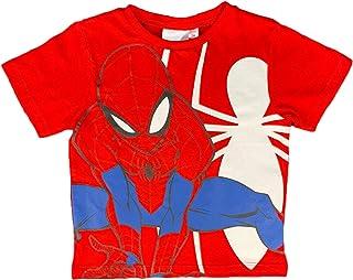 Marvel Maglietta Spiderman t-Shirt in Cotone Stampata Bambino da 3 a 8 Anni 1830