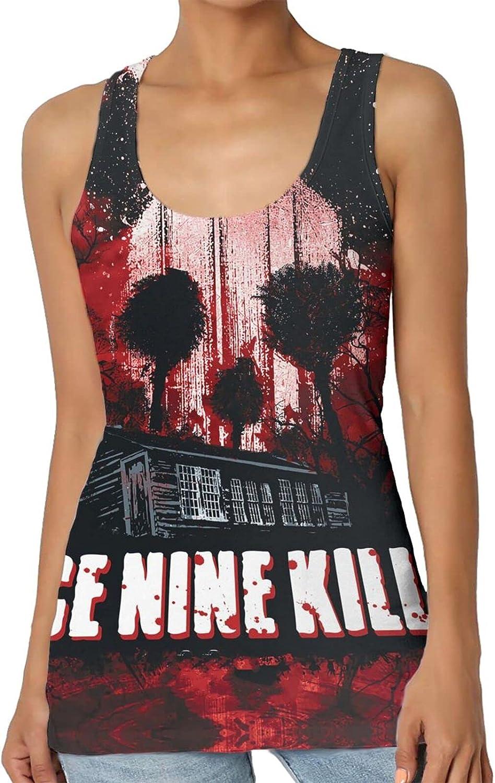 Ice Nine Kills Women's Summer top Sleeveless Round Neck Fashion Vest Ladies 3D Printing