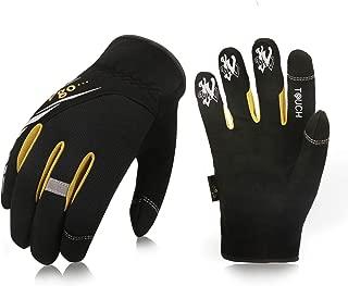 Vgo 5Pairs High Dexterity Light Duty Mechanic Glove, Rigger Glove, Anti-abrasion, Touchscreen (Size L, Black, SL8853)
