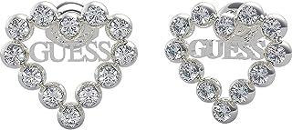 Guess Earrings Stainless Steel Heart Romance Ube70170 Heart Rodiado Swarovski Logo