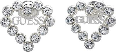 GUESS cuore orecchini cuore dell'acciaio inossidabile Romance UBE70170 rodiato Swarovski logo