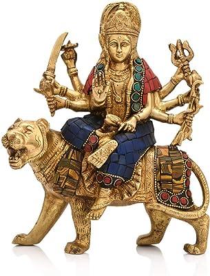 6 cm Maa Padma Farms Astadhatu Made Shri Kala Bhairav Idol//Maha Kala bhairo Brass Idol//Bhairav Brass Idol//Maha Kaal Bhairav Brass Idol-Vrindavan
