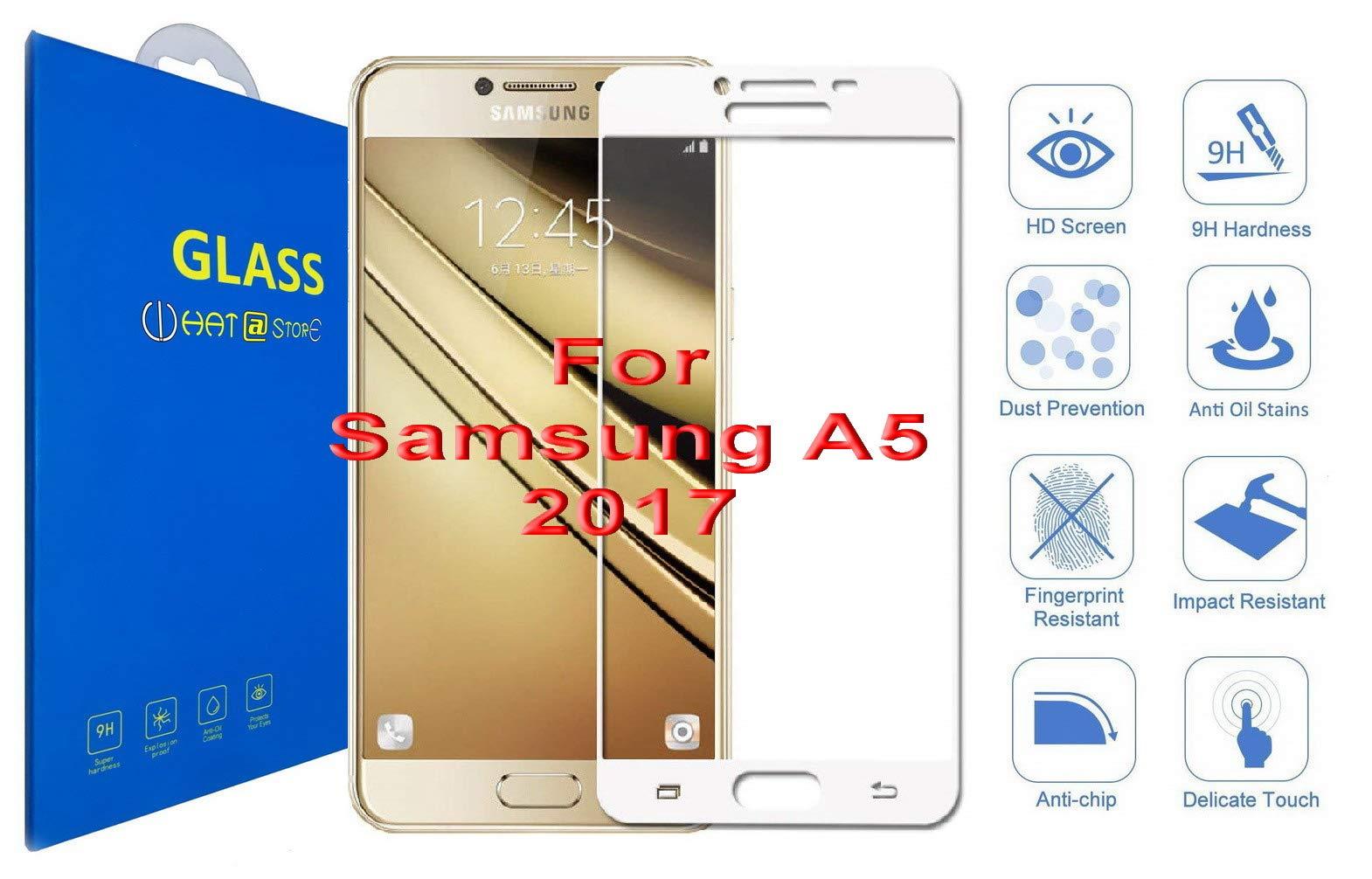 Samsung Galaxy A5 2017 - Curvo 3D Cristal Templado Protector de Pantalla, 3D Completo Borde Curvado [ Borde a Borde ] para Samsung Galaxy A5 (2017) / Samsung Galaxy A5 (2017) Duos (Blanco): Amazon.es: Electrónica