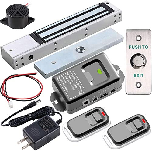 UHPPOTE 2.4GHz WiFi Outswinging Indoor 600lbs Electromagnetic Door Lock Access Control Kit Remote and Smartphone app ...