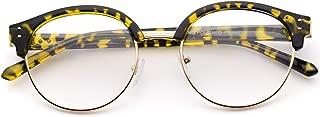 WearMe Pro - Clubround Semi Rimless Half Frame Retro Clear Glasses