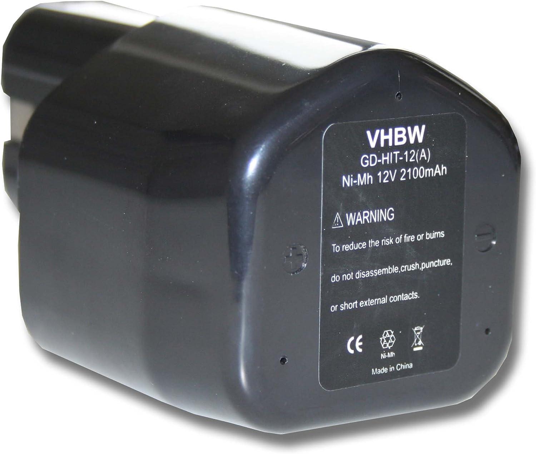 vhbw baterías 2100mAh para herramienta Hitachi sustituye EB12, EB1224, EB12B, EB12G.