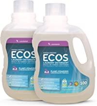 ECOS® 2X Hypoallergenic Liquid Laundry Detergent, Non-Toxic, Lavender, 200 Loads, 100oz Bottle by Earth Friendly Products ...