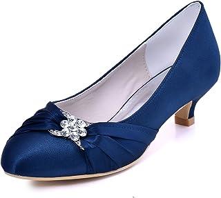 ElegantPark Women Closed Toe Comfort Heel Rhinestone...