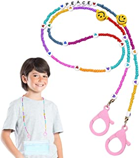 Kid's Face Mask Holder Necklace,Safety Mask Holder Comfortable Around the Neck Face mask Suitable for Children