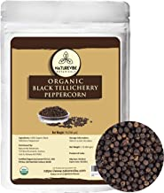Naturevibe Botanicals Organic Black Tellicherry Peppercorn, 1lb | Black pepper whole | Non-GMO and Gluten Free | Indian Sp...