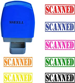 SSEELL Scanned Self Inking Rubber Stamp Self-Inking RE-inkable Pre-Inked Office Stationary Flash Stamps - Green Ink Color