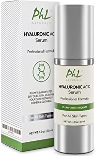 Hyaluronic Acid Serum for Face - with Vitamin C and E, Anti-Aging Line Correcting Serum - Boosts Hydration, Plumps Skin to...