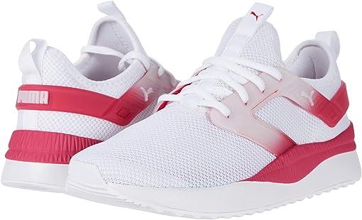 Puma White/Puma White/Bright Rose