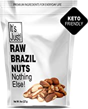 It's Just - Raw Brazil Nuts, Nothing Else, No PPO, Unsalted, Large Premium, Superior To Organic, 8oz