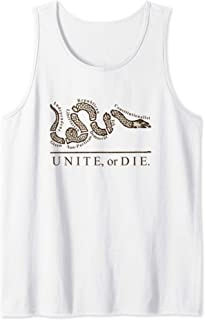 Unite or Die Political Parties Join or Die Inspired Quote Tank Top