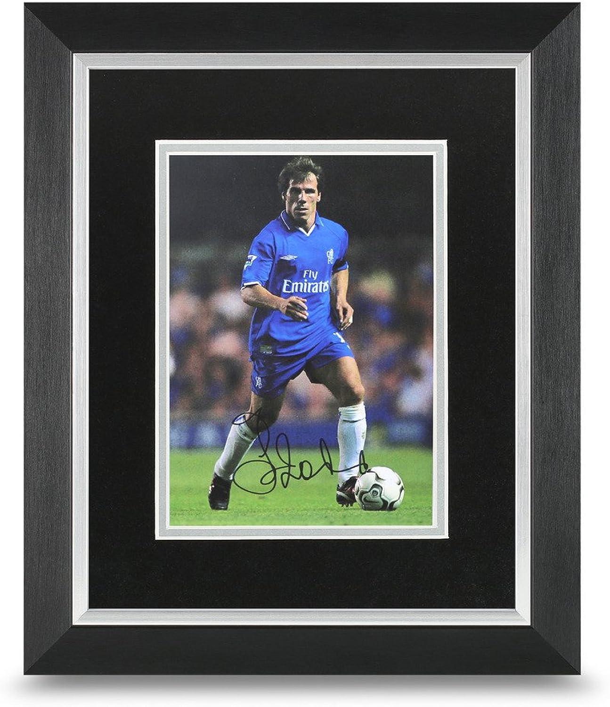 Gianfranco Zola Signed 10x8 Photo Framed Display Chelsea Autograph Memorabilia