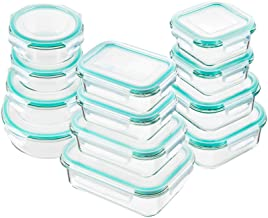 Bayco Glass Food Storage Containers with Lids, [24 Piece] Glass Meal Prep Containers, Airtight Glass Bento Boxes, BPA Free...