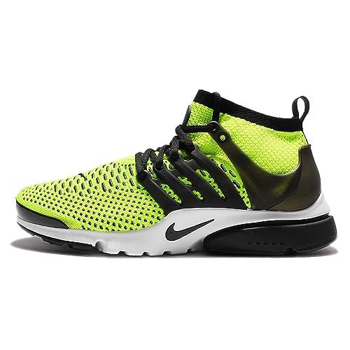 online store 46e64 0315e Nike Air Presto Ultra Flyknit 835570-701 Volt White Black Men s Running  Shoes