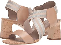 Nude/Platino Calf/Metallic Elastic Striped