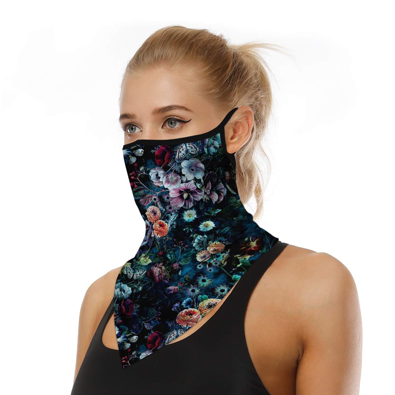 ARKIM Unisex Bandana Face Mask Scarf Face Rave Balaclava Neck Gaiters Dust Cloth Washable Wind Motorcycle Mask Women Men
