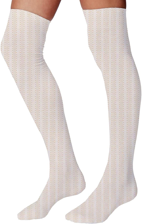 Men's and Women's Fun Socks,Abstract Vertical and Horizontal Tiles in Gradient Vivid Tones Pattern