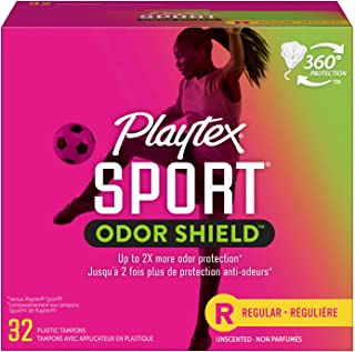 Playtex Sport Fresh Balance Tampons with Odor Shield Technology, Regular, Scented - 32 Count