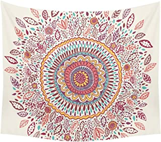 Adarl Psychedelic Mandala Style Hanging Wall Tapestries Square Hippy Boho Gypsy Full-Polyester Tapestry Table Cover Bedspread Beach Towel Sunflower Tapestry A