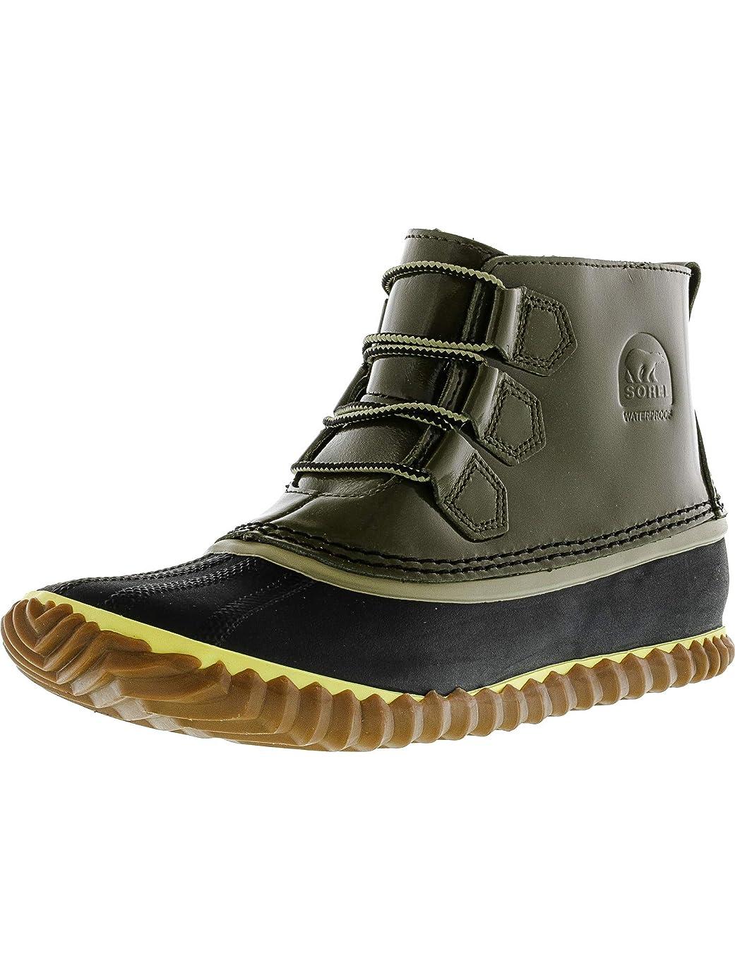 スープ雪だるまを作る移動[Sorel] Women's Out N About Nori Ankle-High Leather Rain Boot - 9M