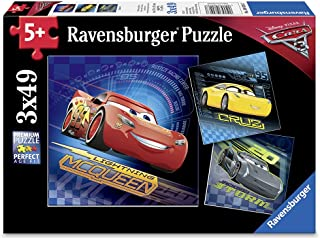Ravensburger Disney Cars 3 3 X 49 Piece Jigsaw Puzzle for Kids – Every Piece is Unique, Pieces Fit Together Perfectly