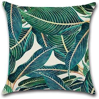 Style 1 WeiMay 1PC Cuscino Modello di piante tropicali Biancheria Cuscino Decorativo Caso Federa per cuscino 45x45cm