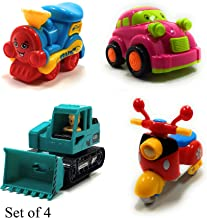 SaleOn™ Unbreakable Friction Powered Construction Toys for Kids (Set of 4) (953)