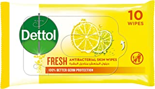 مناديل ديتول، فريش مضادة للبكتيريا للبشرة، 10 قطع
