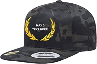 Custom Embroidery Snapback Hat Crest Laurel Add On Personalized Embroidered Cap