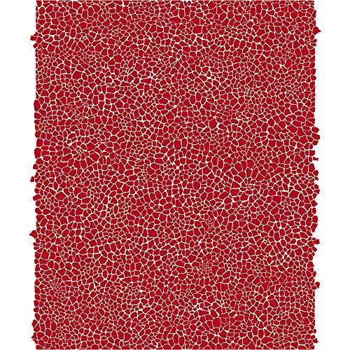Décopatch Papier No. 546 Packung mit 20 Blätter (395 x 298 mm, ideal für Ihre Papmachés) rot, girafemuster