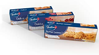 Bahlsen Delice, Deloba, and Butter Leaves Sampler (3 Pack) | Three varieties of soft, flaky, and buttery goodness (3.5 and 4.4 ounce boxes)