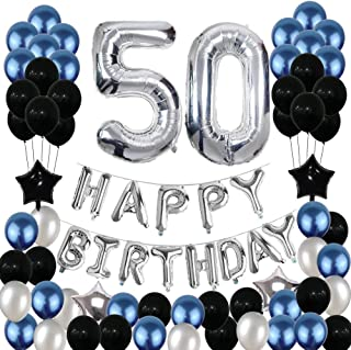 Best blue 50th birthday decorations Reviews