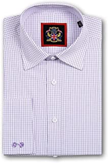 The Hampton Check Mens Formal Dress Shirts for Office Business, Wedding Suit