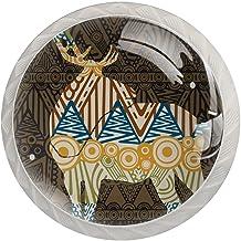 Lade handgrepen trekken decoratieve kast knoppen dressoir lade handvat 4 stuks,herten