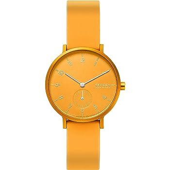Skagen Aaren Colored Silicone Quartz Minimalistic 36mm Watch