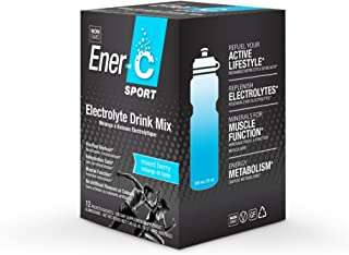 Ener-C Sport Electrolyte Powder Drink Mix | Low Sugar Caffeine-Free Alternative | Supports Muscle Function and Rehydration | Non-GMO No Artificial Flavors or Colors (Mixed Berry, 12 Packets)