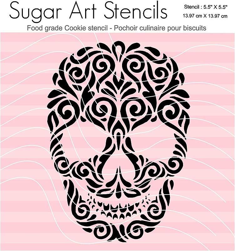 Halloween Cookie Stencil Skull SA00209