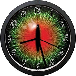 YiiHaanBuy Reptiles Decorative Wall Clock,Creepy Exotic Cat Eye Scary Egyptian Pharaoh Iris Mystic Decor-10inch no Ticking,Suitable for Every Room