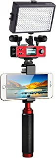Saramonic Ultimate Smartphone Video Kit with Dual Stereo Microphones, Audio Mixer, LED Light and Stabilizing Rig for iPhone 6, 6S, 7, 8, X, XS, XS, 11, 11 Pro - Perfect YouTube Equipment for Vlogging