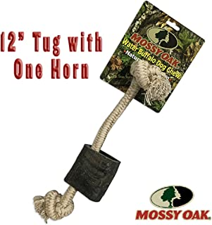 Mossy Oak 12 Inch Water Buffalo and Rope Chew Toy and Tug Toy