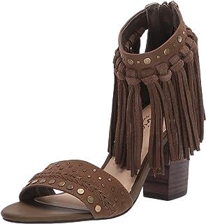 Sbicca Women's Bountiful Heeled Sandal, Khaki, 6