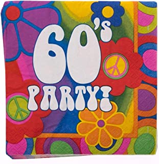 Creative Converting 60's Party Lunch Napkins