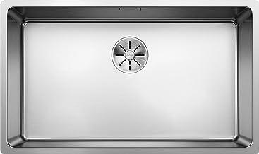 BLANCO ANDANO 700-IF, keukenspoelbak voor normale en vlakke inbouw, inbouwspoelbak, met InFino-afvoersysteem, roestvrij st...
